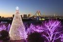 クリスマスイルミネーションとベイブリッジ