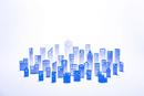 紙のビル群(ブルー)
