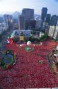 市庁前 ソウル広場 赤い悪魔サポーター