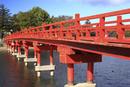 赤城大沼 赤城神社の啄木鳥橋(きつつき)