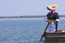 小木港のたらい舟