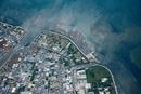矢作古川河口と一色町生田地区(カーネーションとウナギ養殖施設)