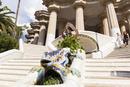 グエル公園の大階段のトカゲのオブジェ