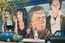 ハリウッド・スターの壁画