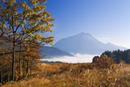 湯布院の雲海と由布岳