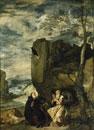 Der hl. Abt Antonius und der hl. Eremit Paulus