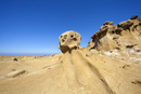 畳ヶ浦 千畳敷 顔の様な岩