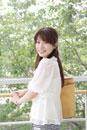 笑顔の日本人の女性