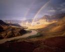 コロラド川にかかる二重の虹