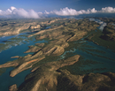 タルボット湾の島々 空撮