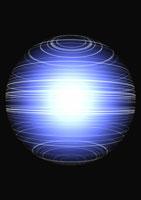 アブストラクト(発光する青い球体) CG