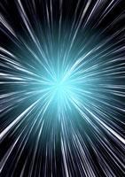 アブストラクト(放射状の光線) CG