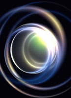 CG 光と曲線イメージ