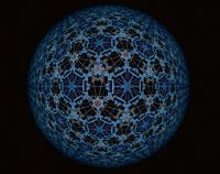 万華鏡のイメージ パターン柄の球体(水色)