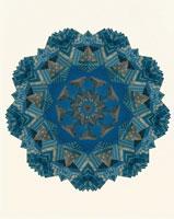 万華鏡のイメージ(青)