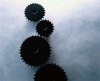 4個の黒い歯車(B&W)