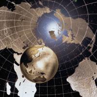 地球儀(金色)