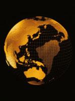 金色の地球