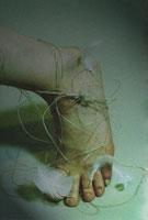 羽と紐と足 00213036990| 写真素材・ストックフォト・画像・イラスト素材|アマナイメージズ