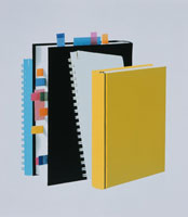 付箋のついた本とノート