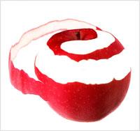 林檎の皮むき 00243010320| 写真素材・ストックフォト・画像・イラスト素材|アマナイメージズ