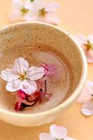 桜茶と桜の花