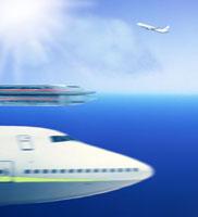 飛行機と電車