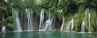 世界遺産プリトヴィツェの滝のパノラマ