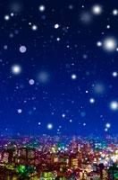 都会に降る雪 00299010291| 写真素材・ストックフォト・画像・イラスト素材|アマナイメージズ