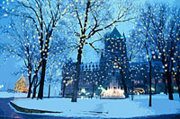 ケベックのシャトー前の風景 CG 00299010430| 写真素材・ストックフォト・画像・イラスト素材|アマナイメージズ