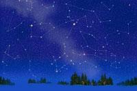 雪原と星座  北海道