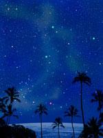 南国の夏の星空 00299010497| 写真素材・ストックフォト・画像・イラスト素材|アマナイメージズ