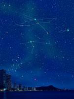 ダイヤモンドヘッドと夏の星空 00299010507A| 写真素材・ストックフォト・画像・イラスト素材|アマナイメージズ