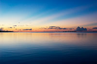 西表島の夕景