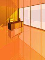 社長室(オレンジ色) CG
