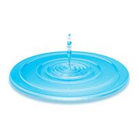 水滴がはねた波紋(青) CG 00330000688| 写真素材・ストックフォト・画像・イラスト素材|アマナイメージズ