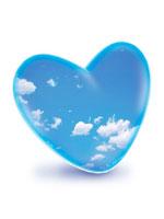 ハートの中の青空と雲 CG