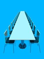 ロングテーブルのある会議室  CGイラスト