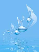 水面を浮遊する音符 00330000819| 写真素材・ストックフォト・画像・イラスト素材|アマナイメージズ
