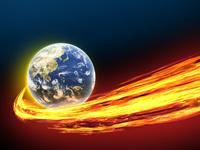 地球から放出する炎