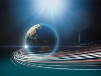 地球から放出する光線