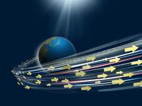 地球から飛び出す矢印群