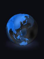 背景に溶け込む地球儀