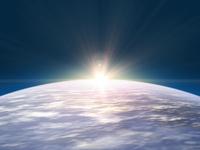 大気層の日の出