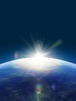 大気層の日の出 00330001658| 写真素材・ストックフォト・画像・イラスト素材|アマナイメージズ