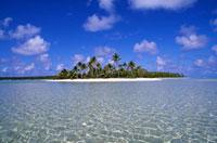 ヤシの木と小島と青空 00414010337  写真素材・ストックフォト・画像・イラスト素材 アマナイメージズ
