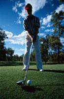 ゴルフ場の外国人男性