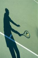 テニスの人物のシルエット
