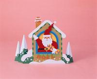 サンタクロースと雪の家        ペーパークラフト