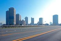 佃大橋とリバーシティ21